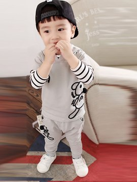 ericdress cartoon printed stripped baby boy 3 piezas trajes