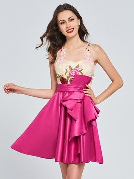 Ericdress A Line Short Appliques Homecoming Dress
