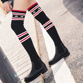 Ericdress Patchwork Slip-On Women's Knee High Boots