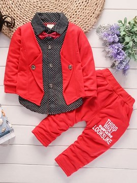 Ericdress Polka Dots Color Block Baby Boy's Casual Outfits