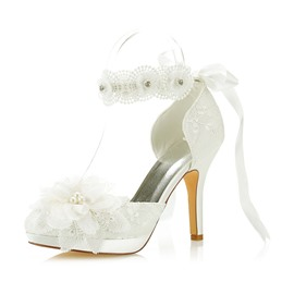 Ericdress Floral Platform Stiletto Heel Wedding Shoes