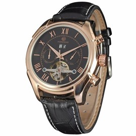 Ericdress Leather Band Mechanical Watch