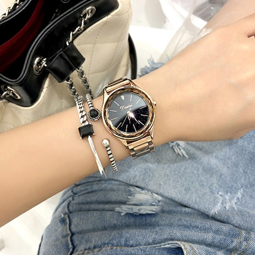 Ericdress Steel Belt Circular Dial Women Watch