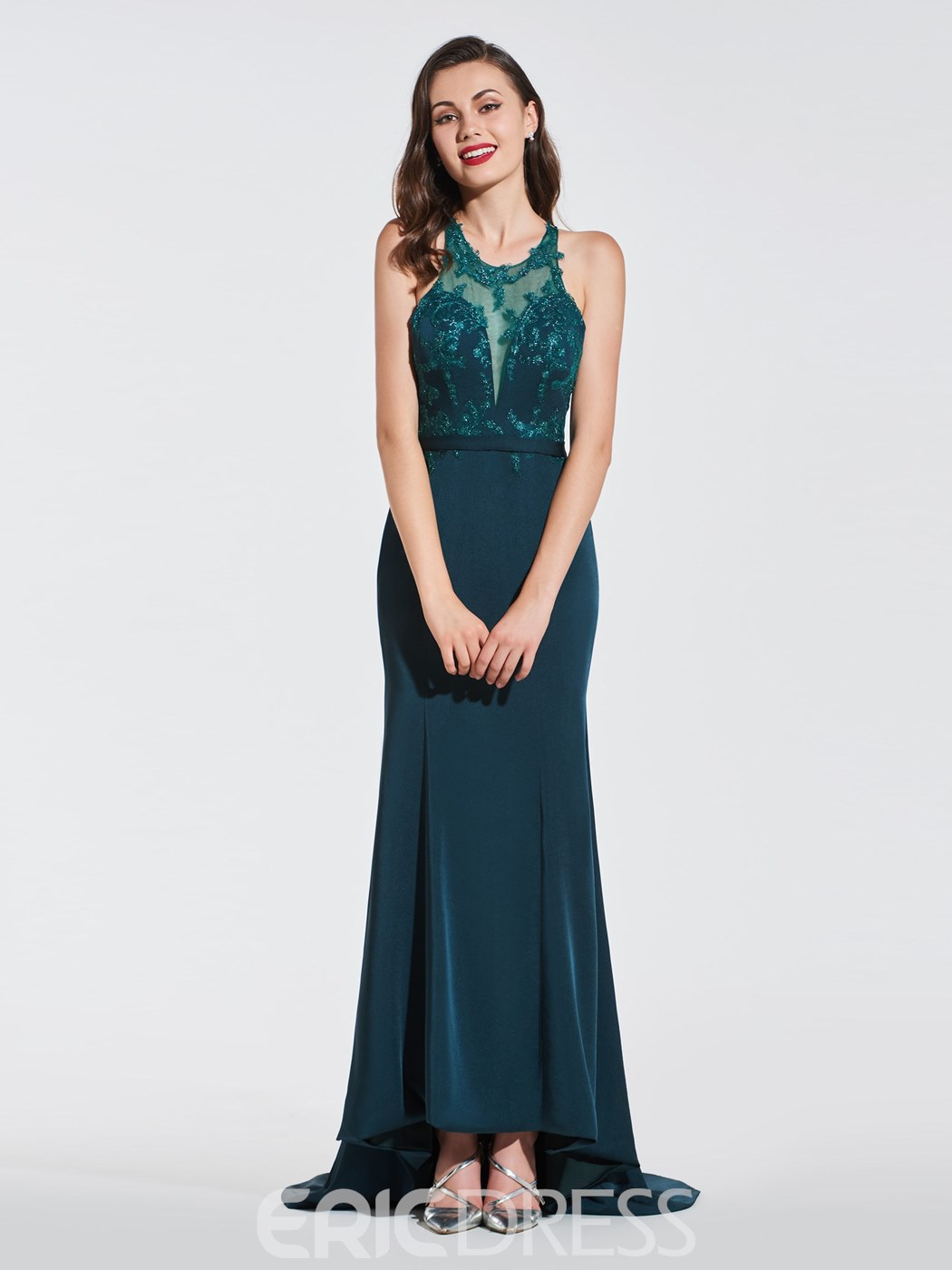 Ericdress Mermaid Backless Prom Dress