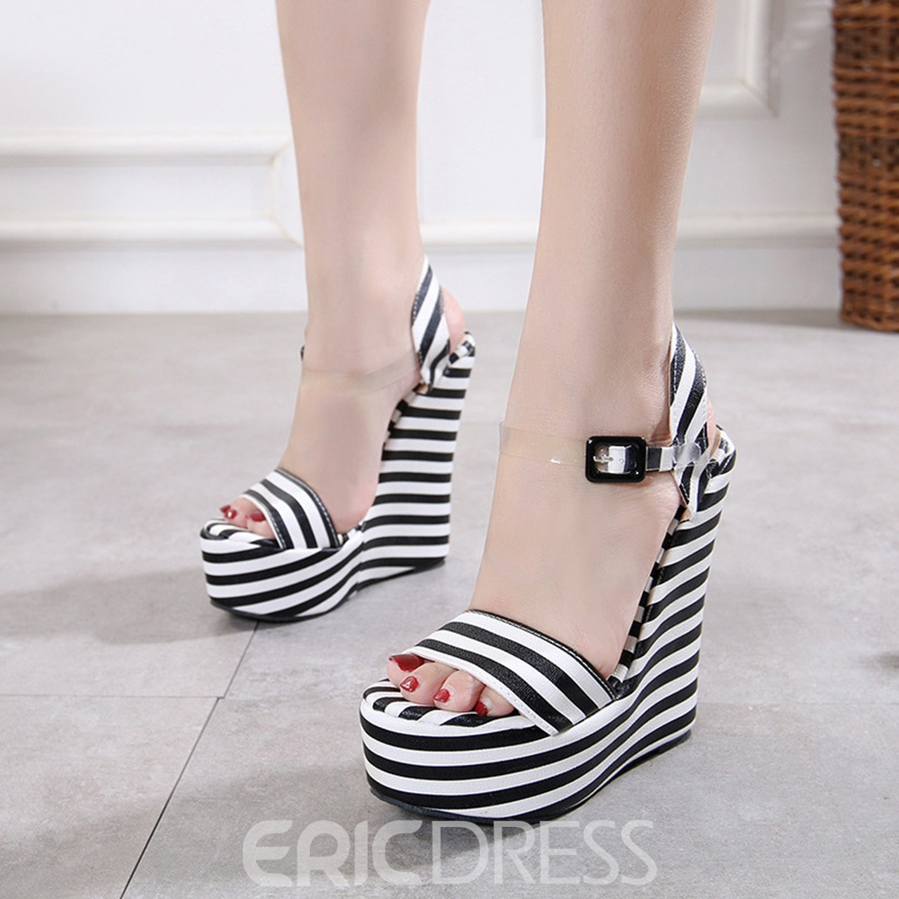 Ericdress Ankle Strap Wedge Heel Women's Sandals