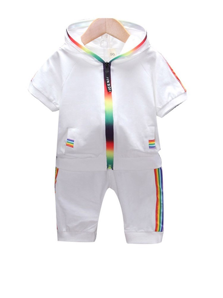 Ericdress Side Striped T Shirts Pants Patchwork Baby Boy's Outfits