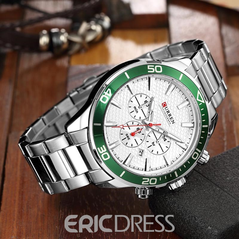 Ericdress Japanese Movement Fashion Multicolored Three Needle Men's Watch