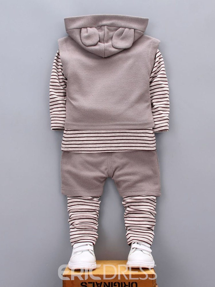Ericdress Striped Patchwork Button Baby Boy's 3 Pieces Outfits