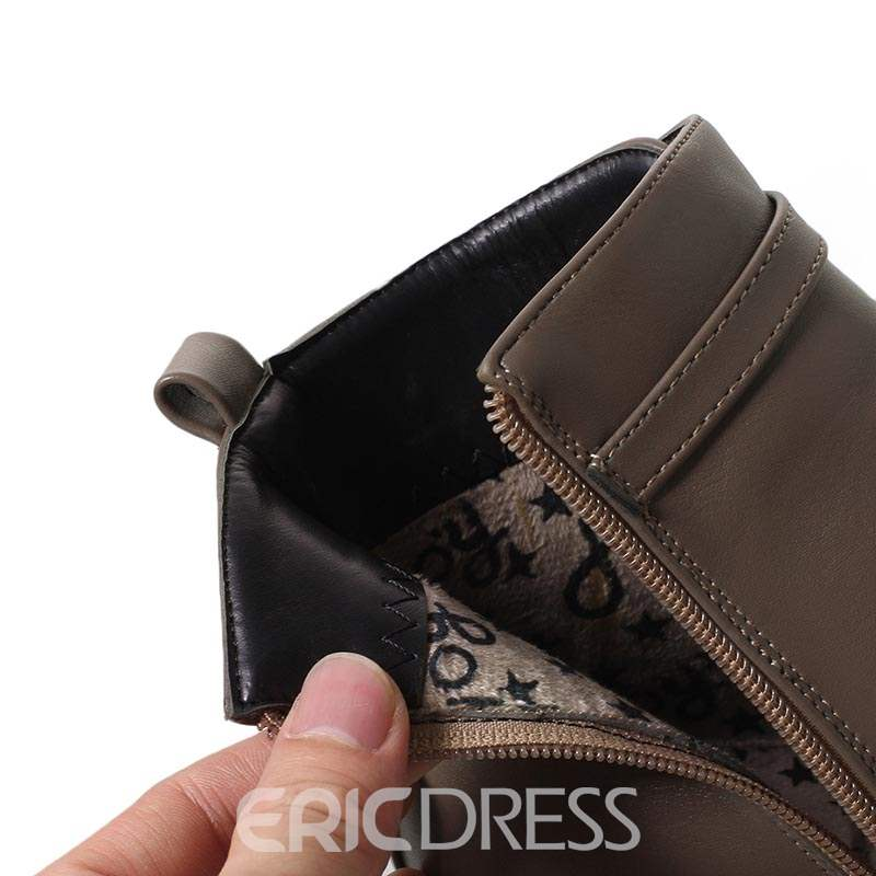 Ericdress Side Zipper Chunky Heel Women's Boots