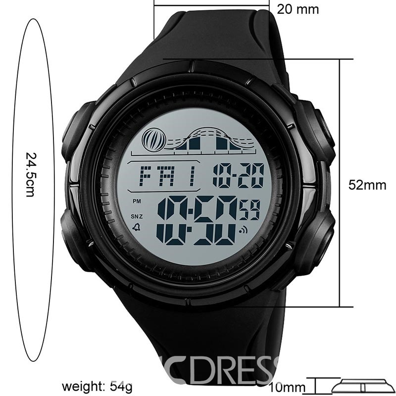 Ericdress Multi-Function Outdoor Sport Glue Japanese Movement Clock Watch