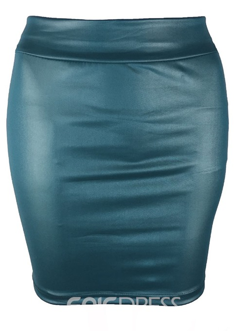 Ericdress Plain Bodycon Fashion Mini Skirt