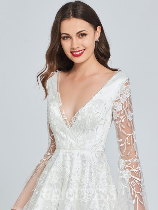 Ericdress A Line Lace High Low Homecoming Dress