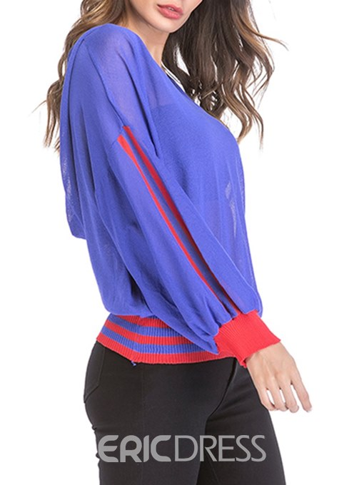 Ericdress Casual Loose V-Neck Long Sleeves Knitwear