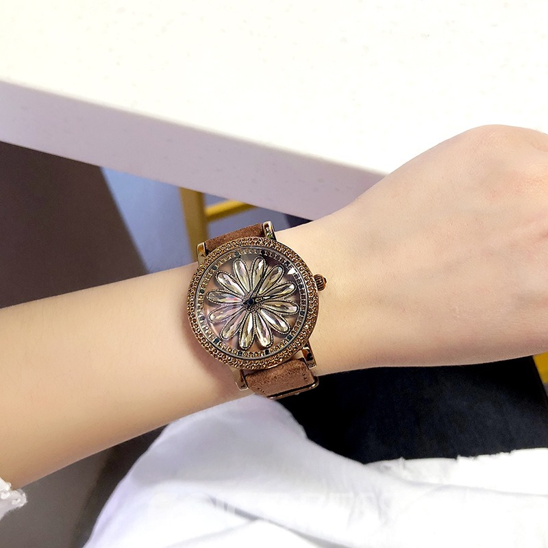Ericdress Suede Full-Jewelry Women Watch