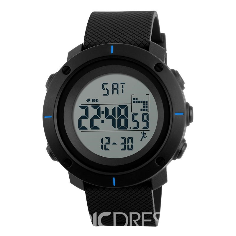 Ericdress PU Band Calendar Alarm Clock Fashion Sport Waterproof Watch