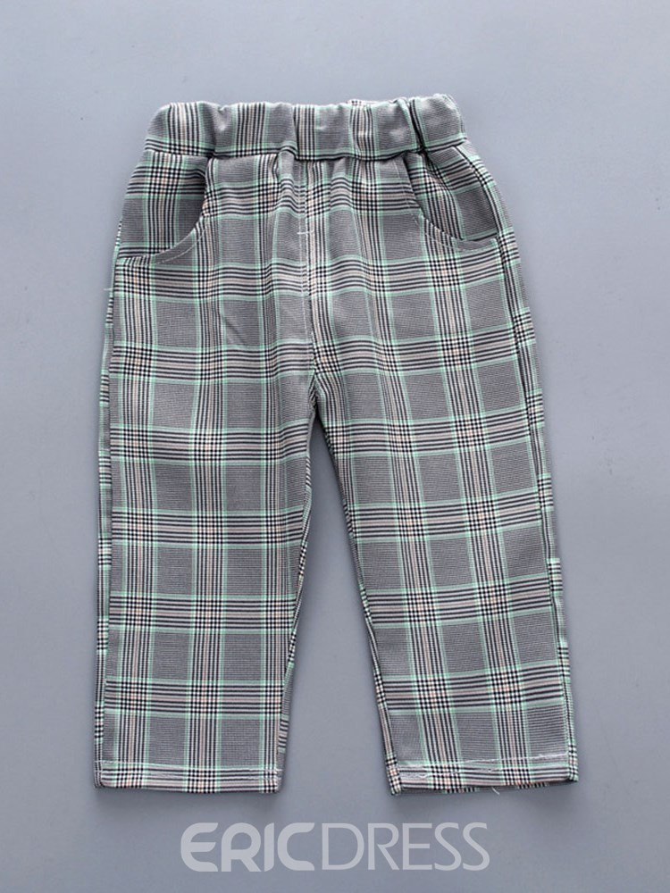 Ericdress Plaid T Shirts Vest & Pants Baby Girl's Outfits