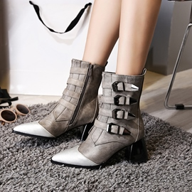 Ericdress Side Zipper Pointed Toe Women's Ankle Boots