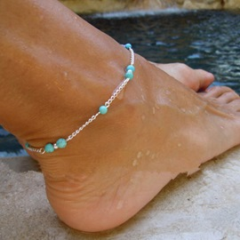 Ericdress Kallaite Beads Anklet