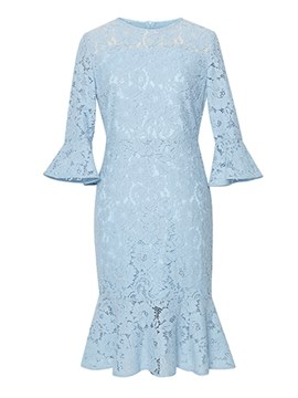 Ericdress Mermaid Lace Flare Sleeve Women's Dress