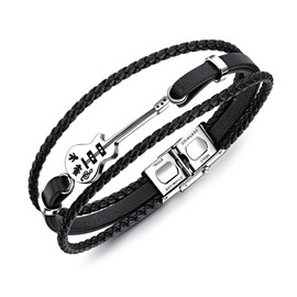 Ericdress Guitar Leather Knit Men's Bracelet