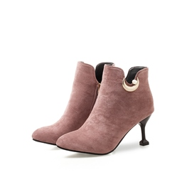 Ericdress Beads Side Zipper Pointed Toe Women's Ankle Boots