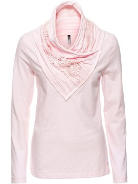 Ericdress Patchwork Lace Plain Cowl Neck Cool Hoodie