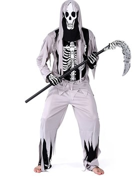 Ericdress Skeleton Zombie Halloween Costume without Prop on Hand