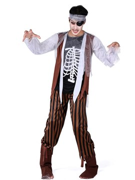 Ericdress Pirate Zombie Halloween Costume
