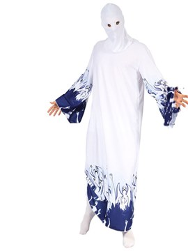 Ericdress Ghost Halloween Costume with Headgear and Bodysuit