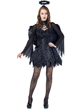 Ericdress Fallen Angel Dress Halloween Costume without Wing