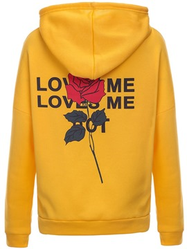 Ericdress Loose Print Casual Letter Cool Hoodie