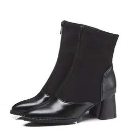 Ericdress Front Zipper Pointed Toe Women's Ankel Boots