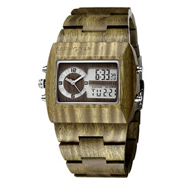 Ericdress Electronic Wooden Watch