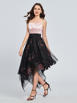 Ericdress A Line Spaghetti Straps Asymmetry Homecoming Dress