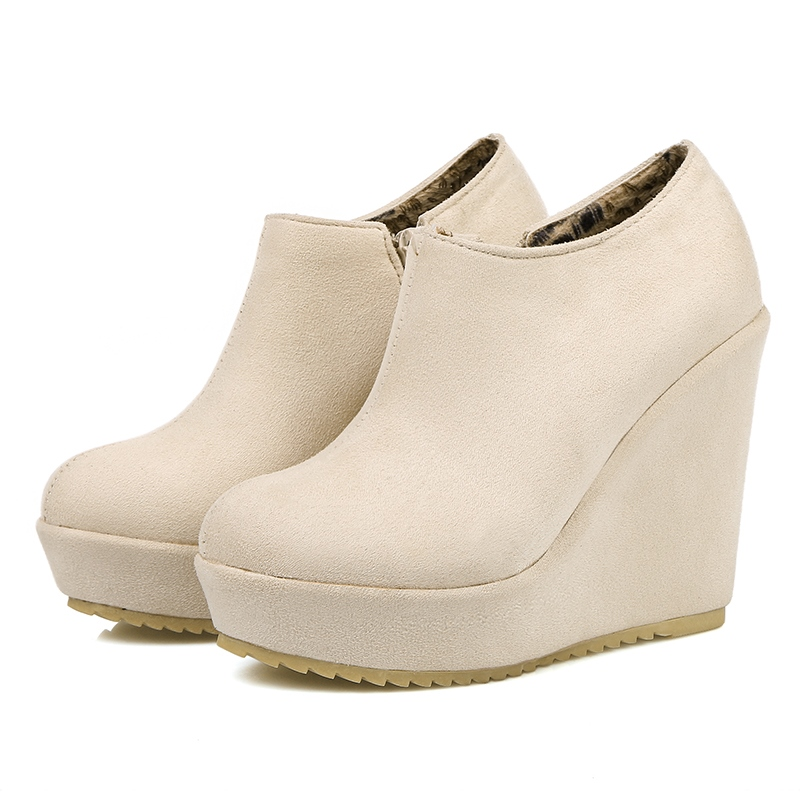 Ericdress Side Zipper Wedge Heel Women's Ankle Boots