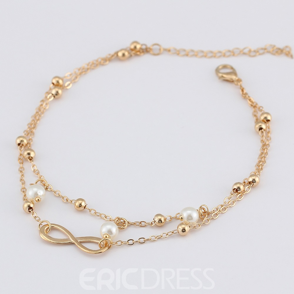 Ericdress Pearl Bowknot Anklet