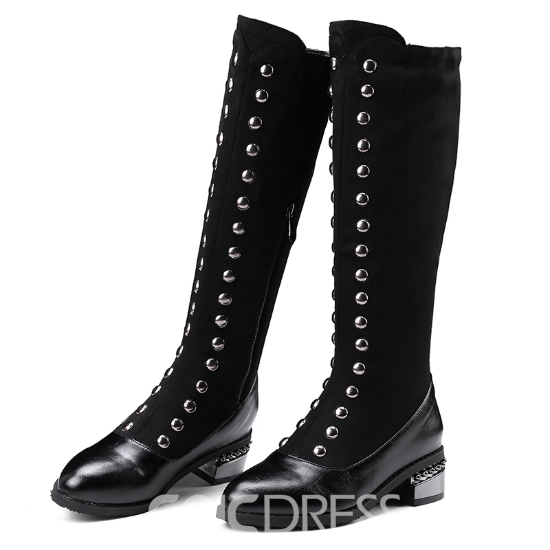 Ericdress Rivet Side Zipper Women's Knee High Boots