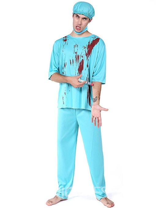 Ericdress Male Doctor Blood Halloween Costume without Prop on Hand