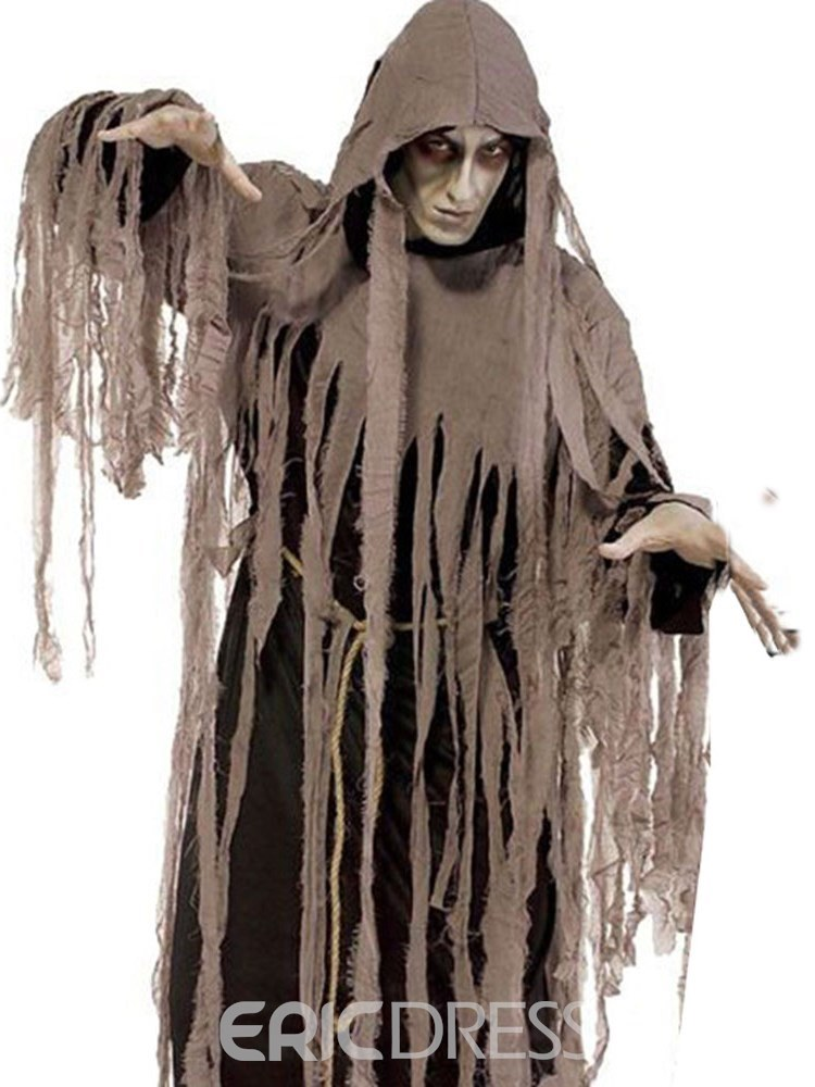 Ericdress Asymmetric Adult Night Zombie Halloween Costume
