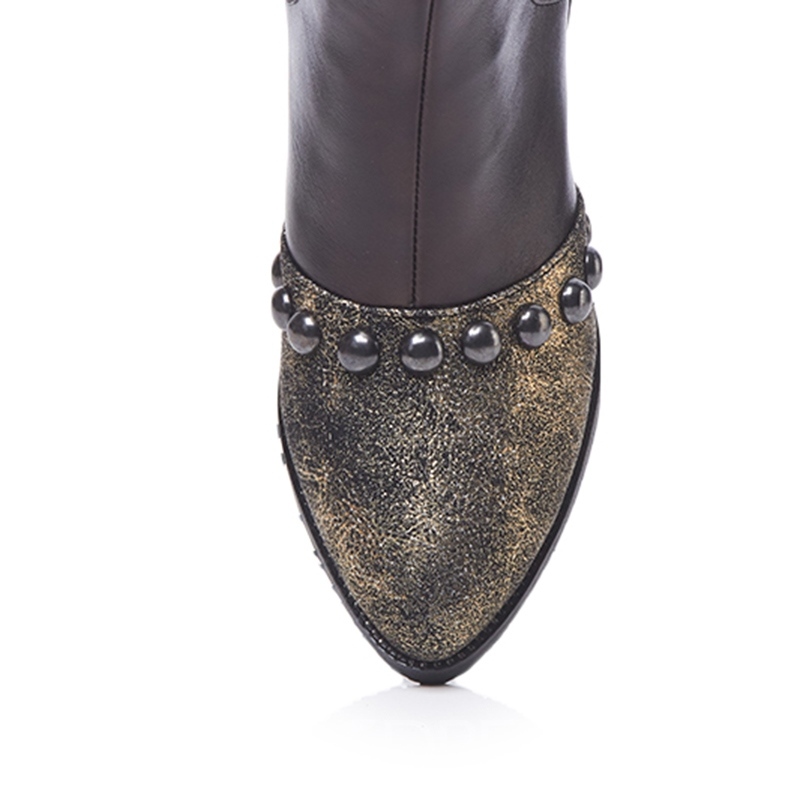 Ericdress Rivet Patchwork Pointed Toe Women's Ankle Boots