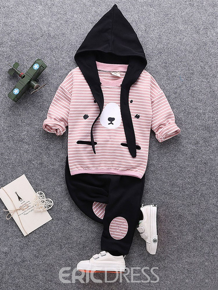 Ericdress Striped Hoodies & Pants Baby Boy's Casual Outfits