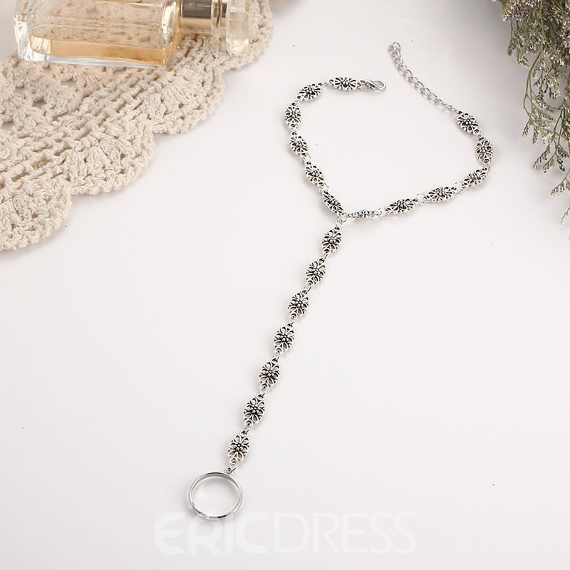 Ericdress Silver Chain Anklet
