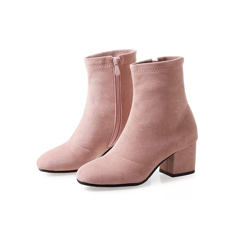Ericdress Faux Suede Side Zipper Women's Ankle Boots