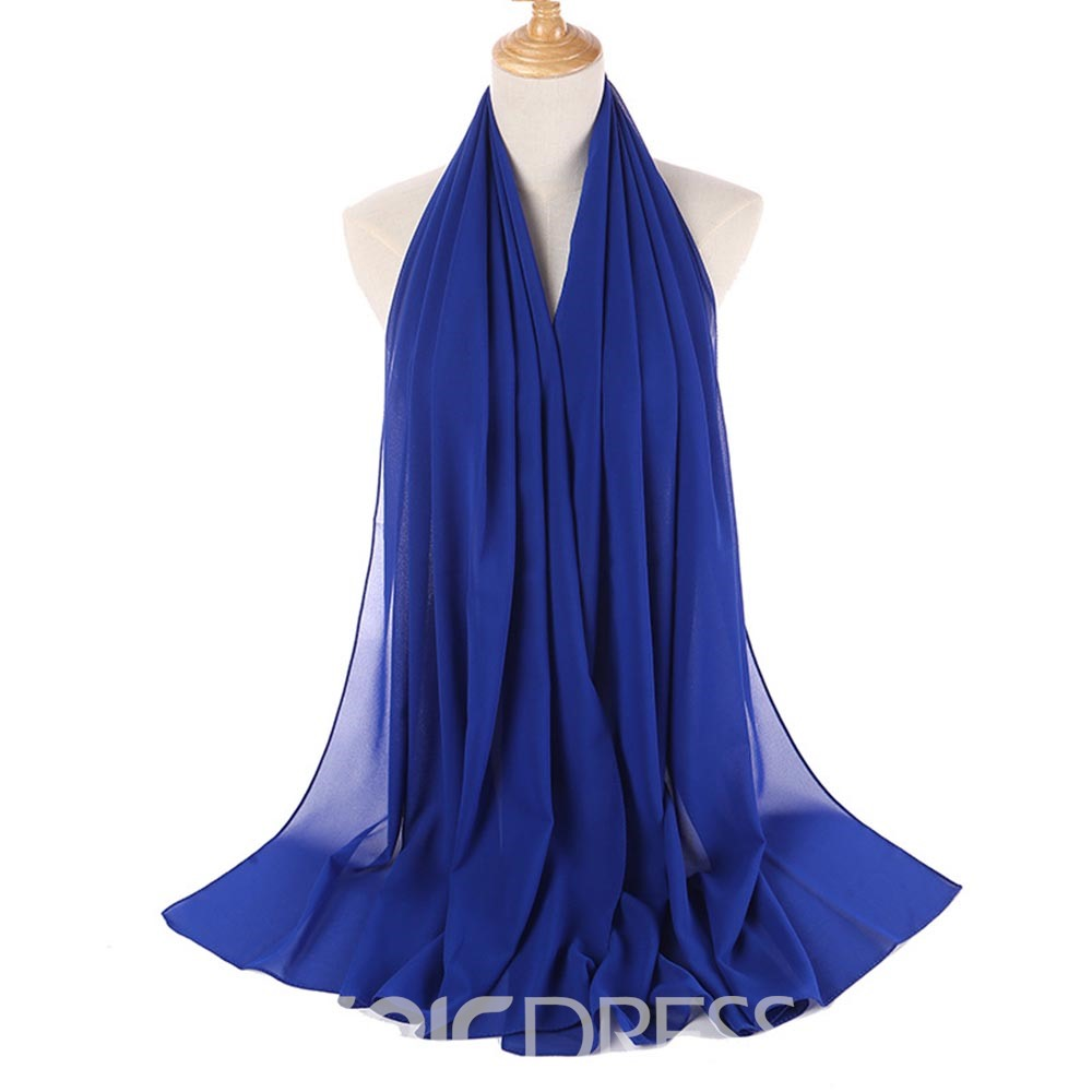 Ericdress Summer Solid Color Chiffon Scarf