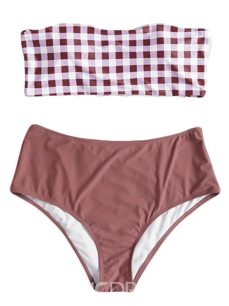 Ericdress England Plaid Bikini