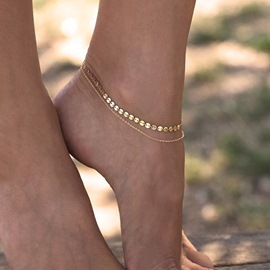 Ericdress Double Chain Anklet