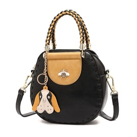 Ericdress Casual Color Block Chain Handbag