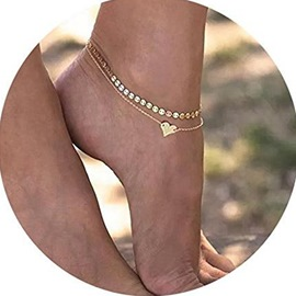 Ericdress Paillette Heart Anklet