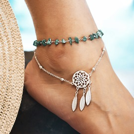 Ericdress Kallaite Dreamcatcher Women Anklet