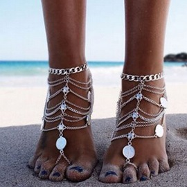 Ericdress Paillette Bohemian Style Anklet